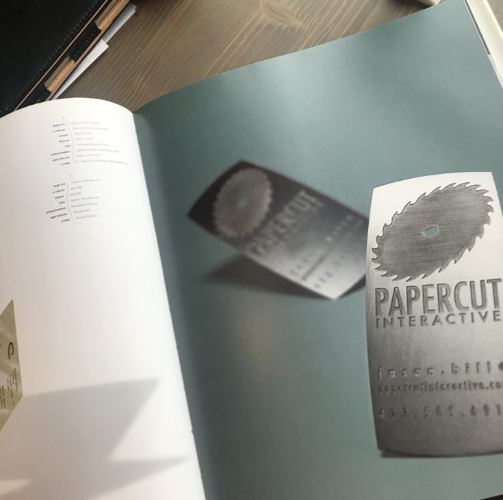 papercuts business cards